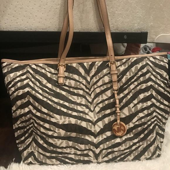 cfd43726e9a56e Michael Kors Bags | Zebra Print Laptop Bag | Poshmark